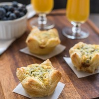 5 Ingredient Spinach Artichoke Egg Tarts