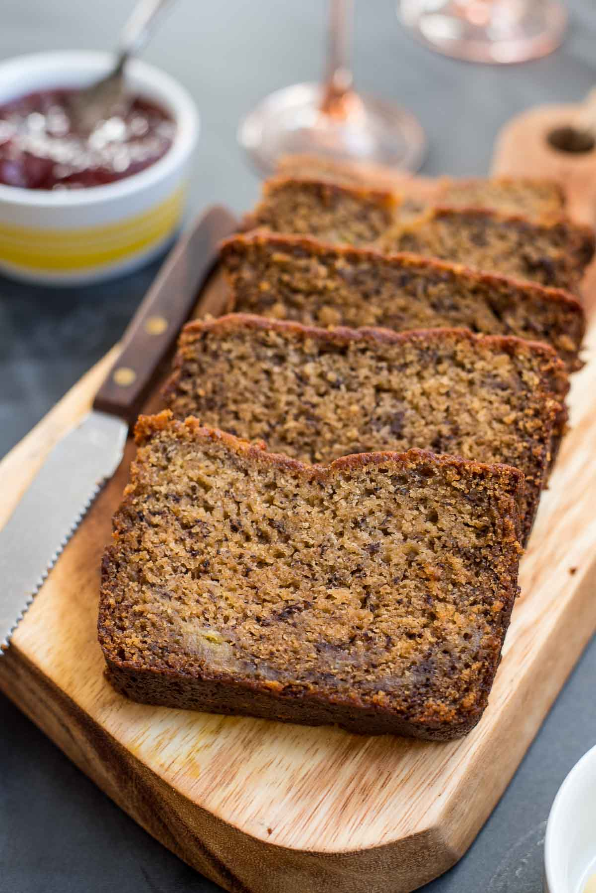 Banana bread is a perfect addition to a make ahead Easter brunch menu.