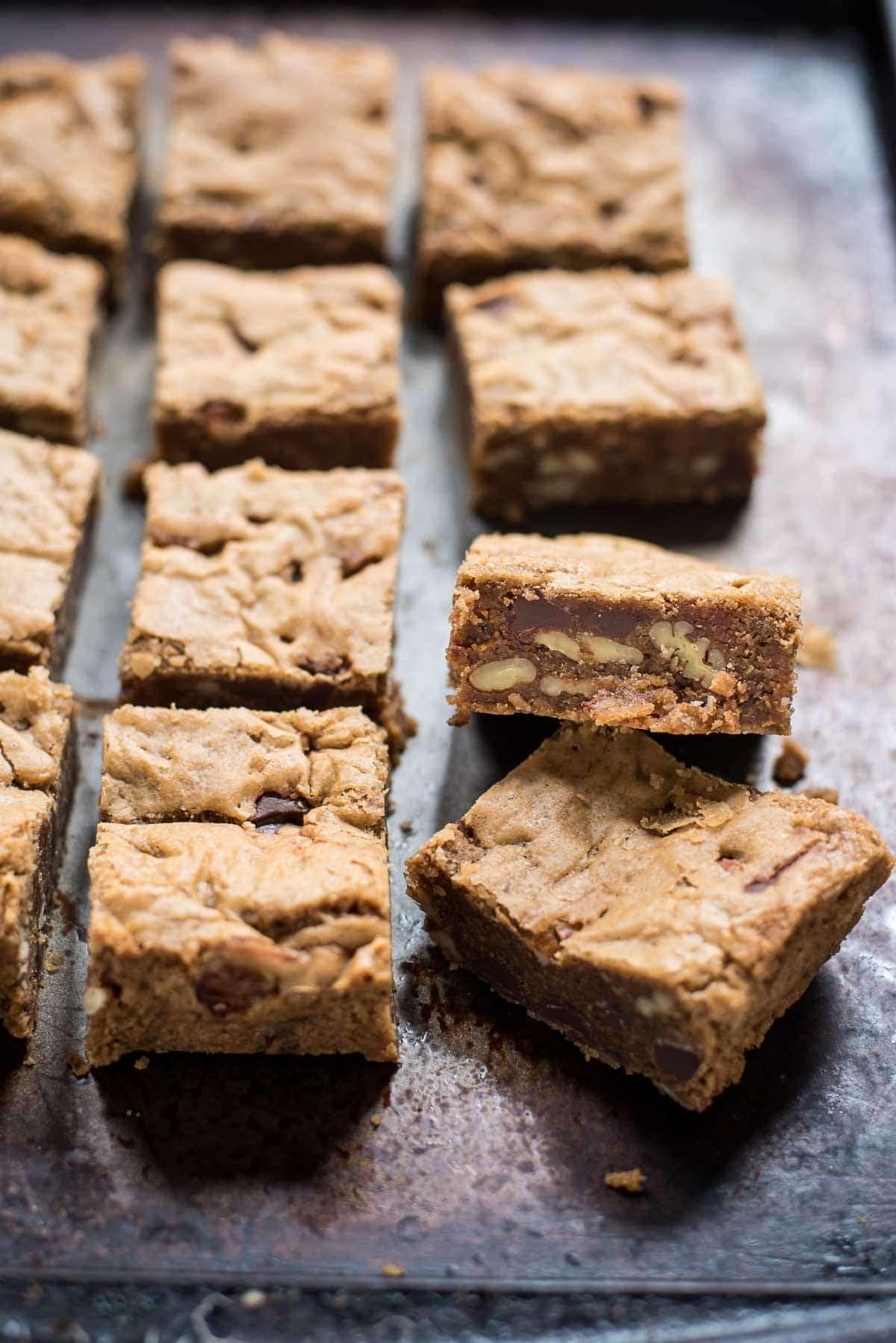 Brown Butter Pecan Blondies | NeighborFood