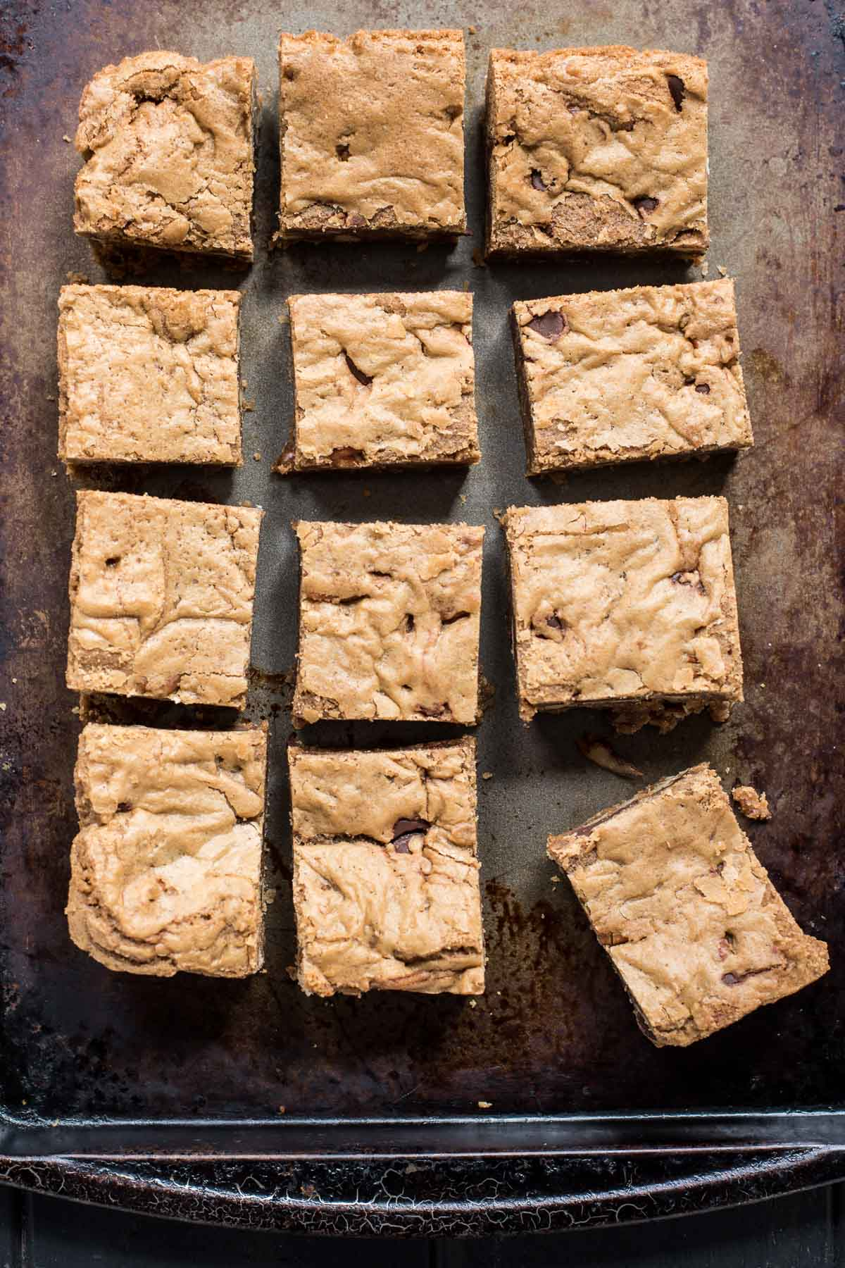 Perfectly simple, chewy, crackly Brown Butter Pecan Blondies.