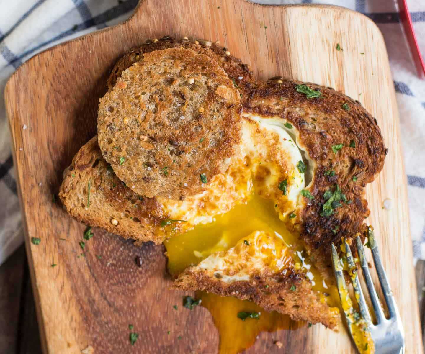 Three Ingredient Eggs in a Basket is the perfect breakfast or easy dinner.