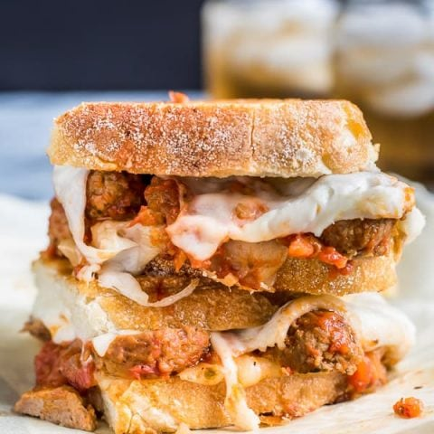 Meatball Sub Grilled Cheese