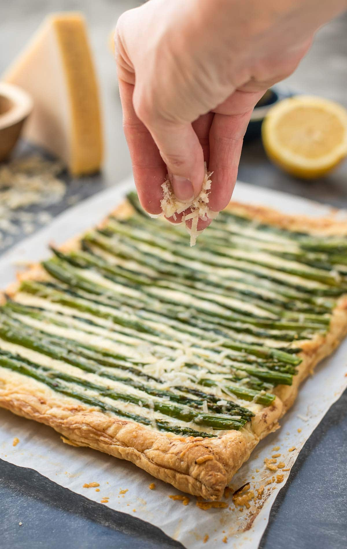 Looking for a quick, elegant appetizer? This Parmesan Asparagus Tart is just the thing!