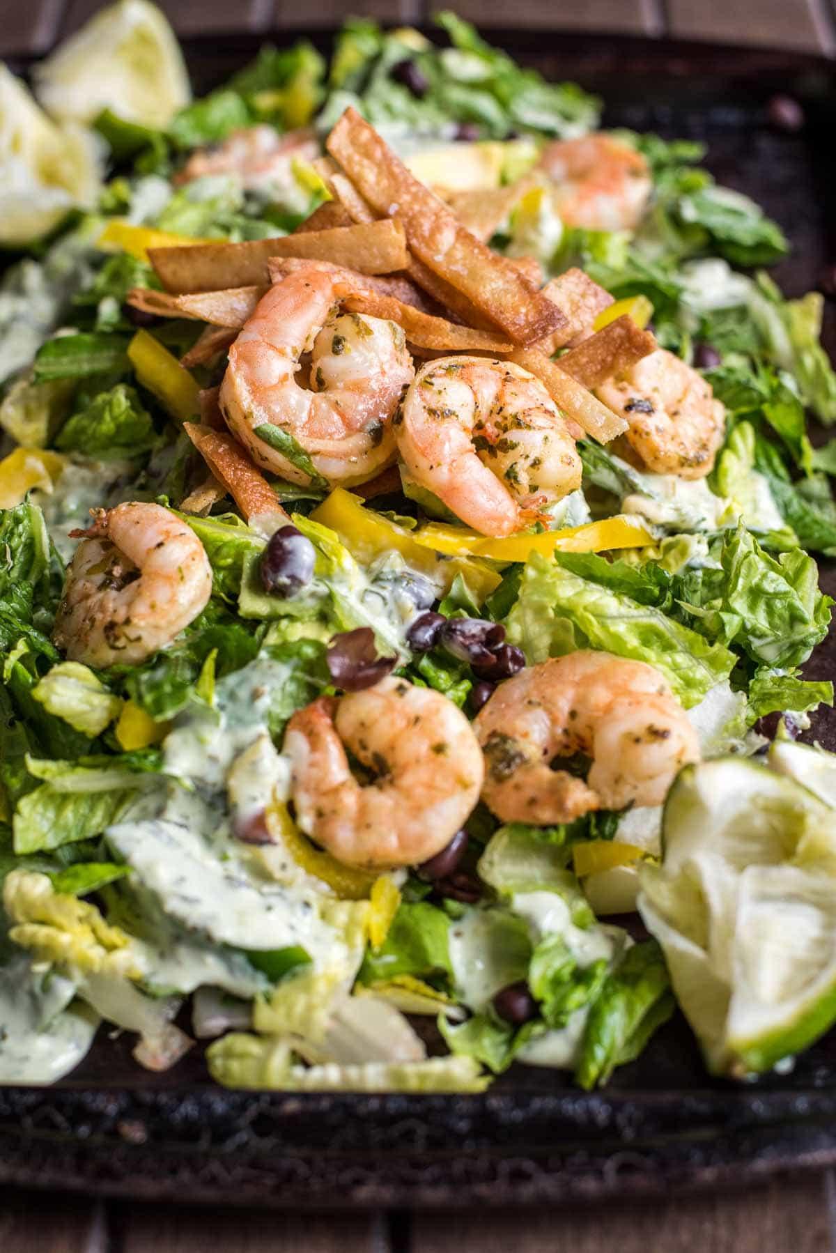 Shrimp Taco Salad | NeighborFood