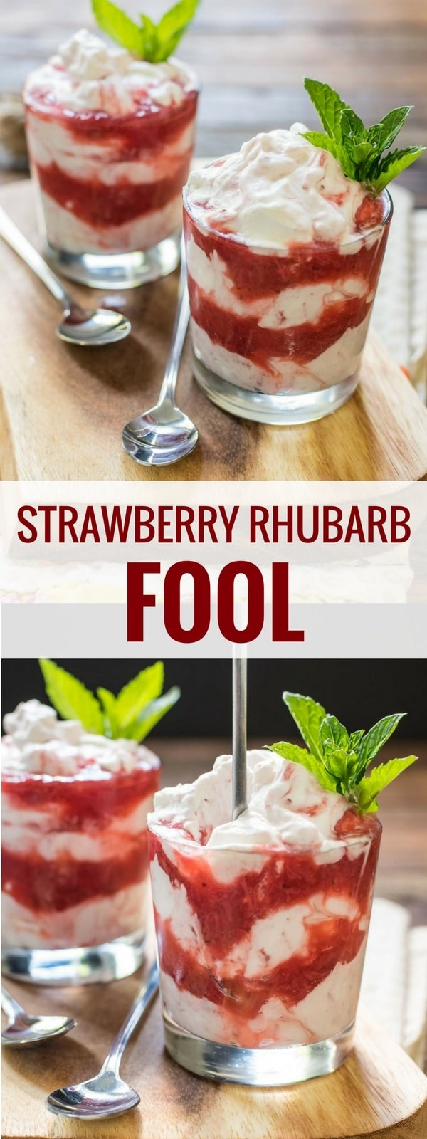This Strawberry Rhubarb Fool is a refreshing, creamy dessert that's so easy to make!