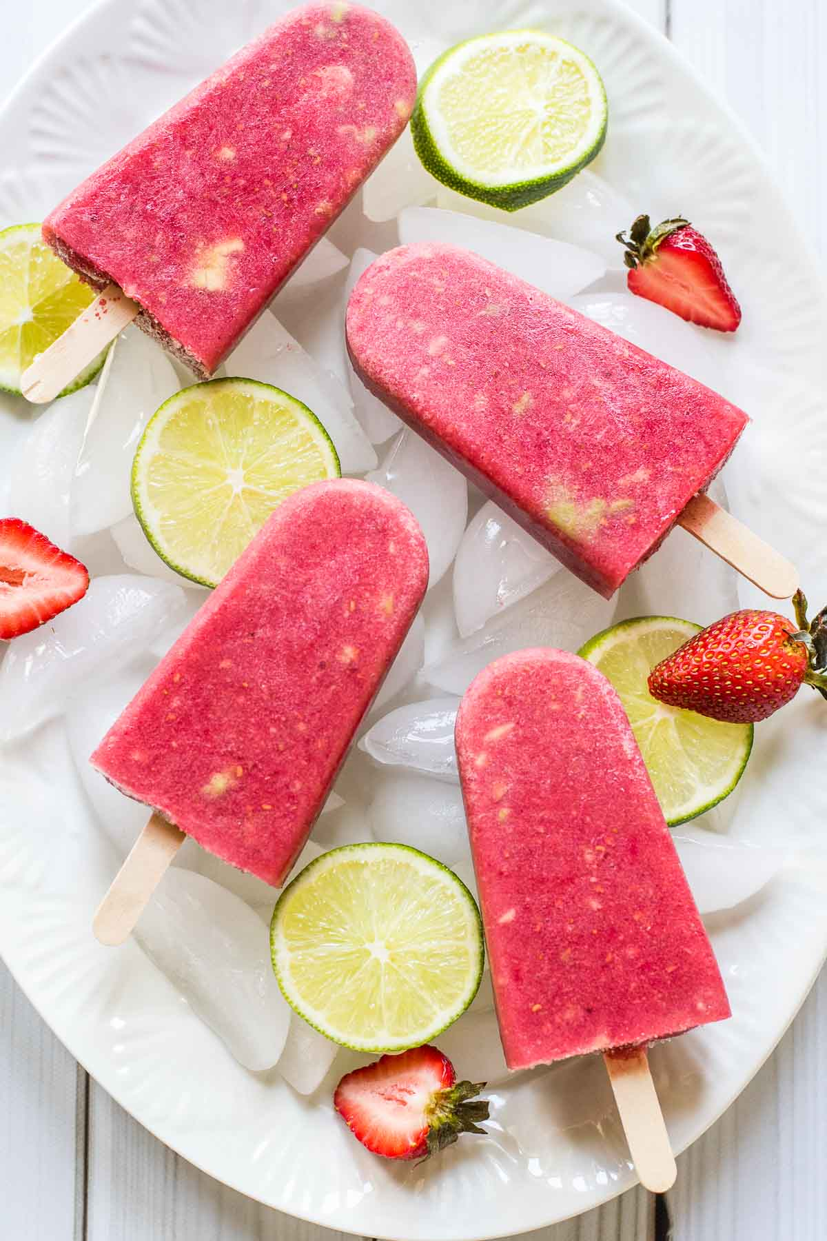 These Berry Avocado Popsicles are easy, healthy, and so refreshing-the perfect summer treat!