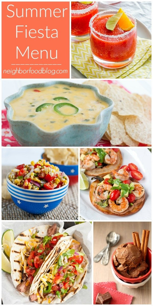 If you'd like to give your cookouts a little south of the border flair, look no further than this Mexican Fiesta Menu!