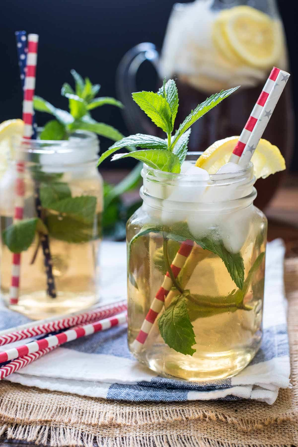 Mint Iced Tea is so refreshing on a hot summer day. Make it on the stove top or in a tea maker with this recipe!