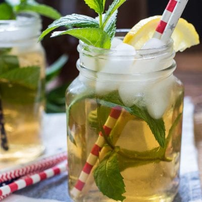 Make this refreshing Mint Iced Tea recipe on the stove top or in an ice maker. It's the perfect summer drink!
