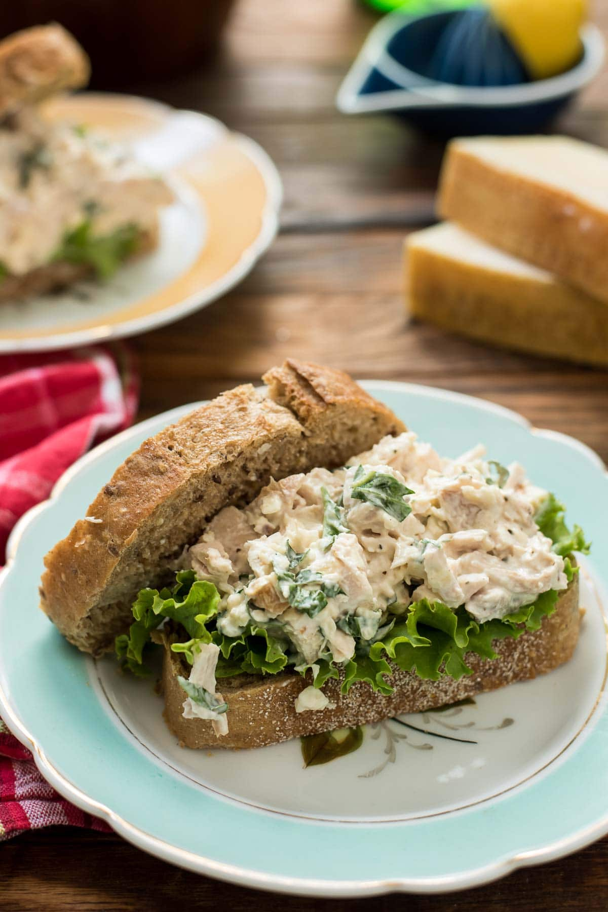 Parmesan Basil Chicken Salad