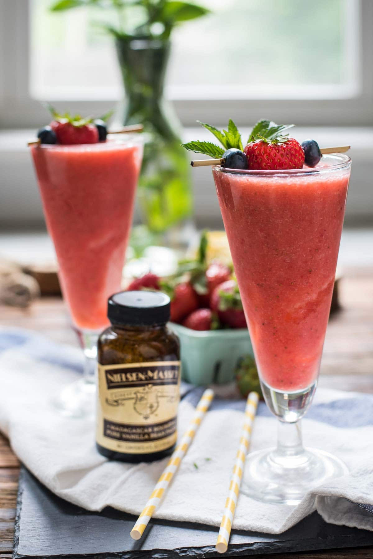 These Strawberry Vanilla Coolers are the ultimate summer thirst quencher.