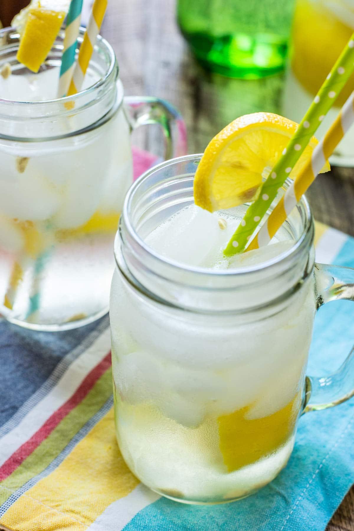 Get the refreshing taste of summer with this Homemade Lemon Shake Up Recipe!