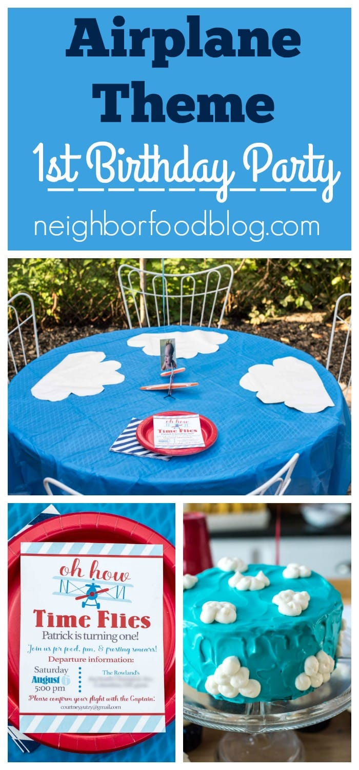 Time flies an airplane themed birthday party neighborfood sharing ideas for food decorations and invitations for an airplane themed birthday party filmwisefo
