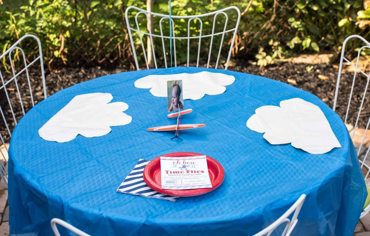 Ideas, decorations, and inspiration for an airplane themed birthday party!