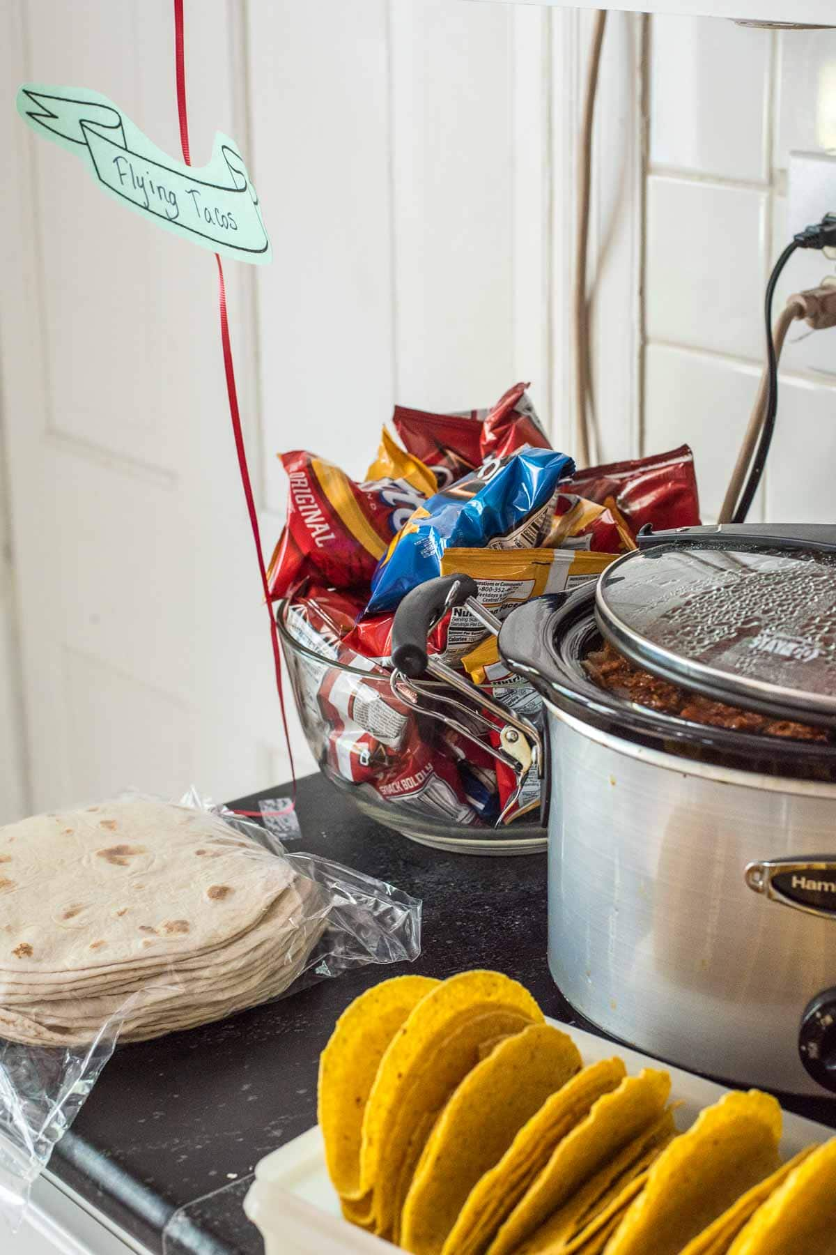 Flying Tacos were the perfect food to serve at our airplane themed birthday party!