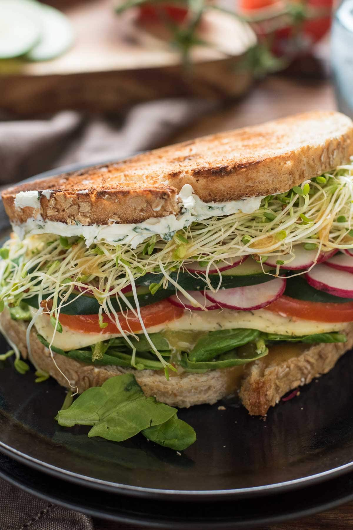 The Best Veggie Sandwiches With Herbed Cream Cheese