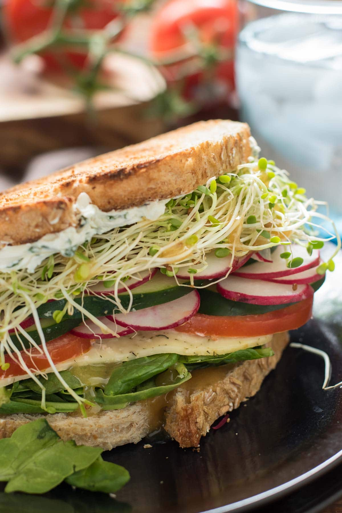 Use all of that fresh summer produce to make the best veggie sandwiches!