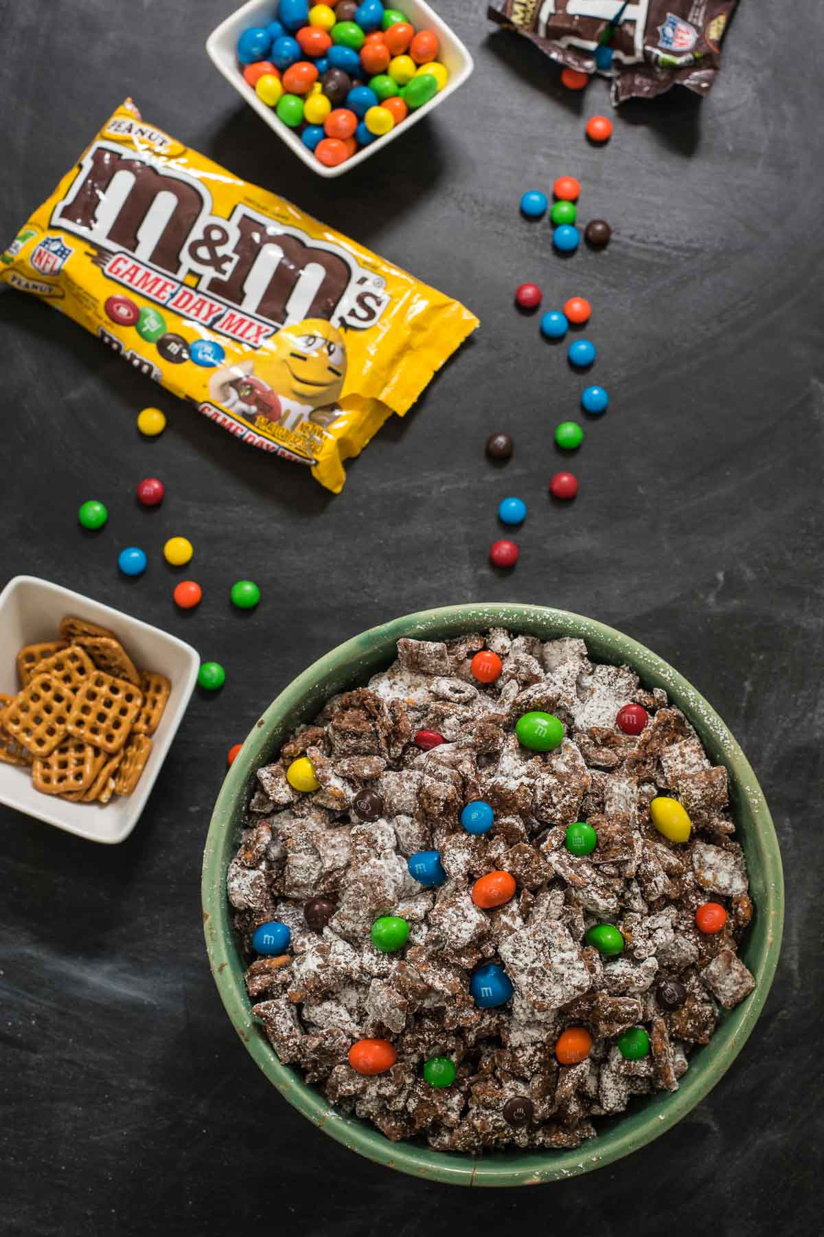 This Chocolate Peanut Butter Puppy Chow is an easy, crowd pleasing party dessert!