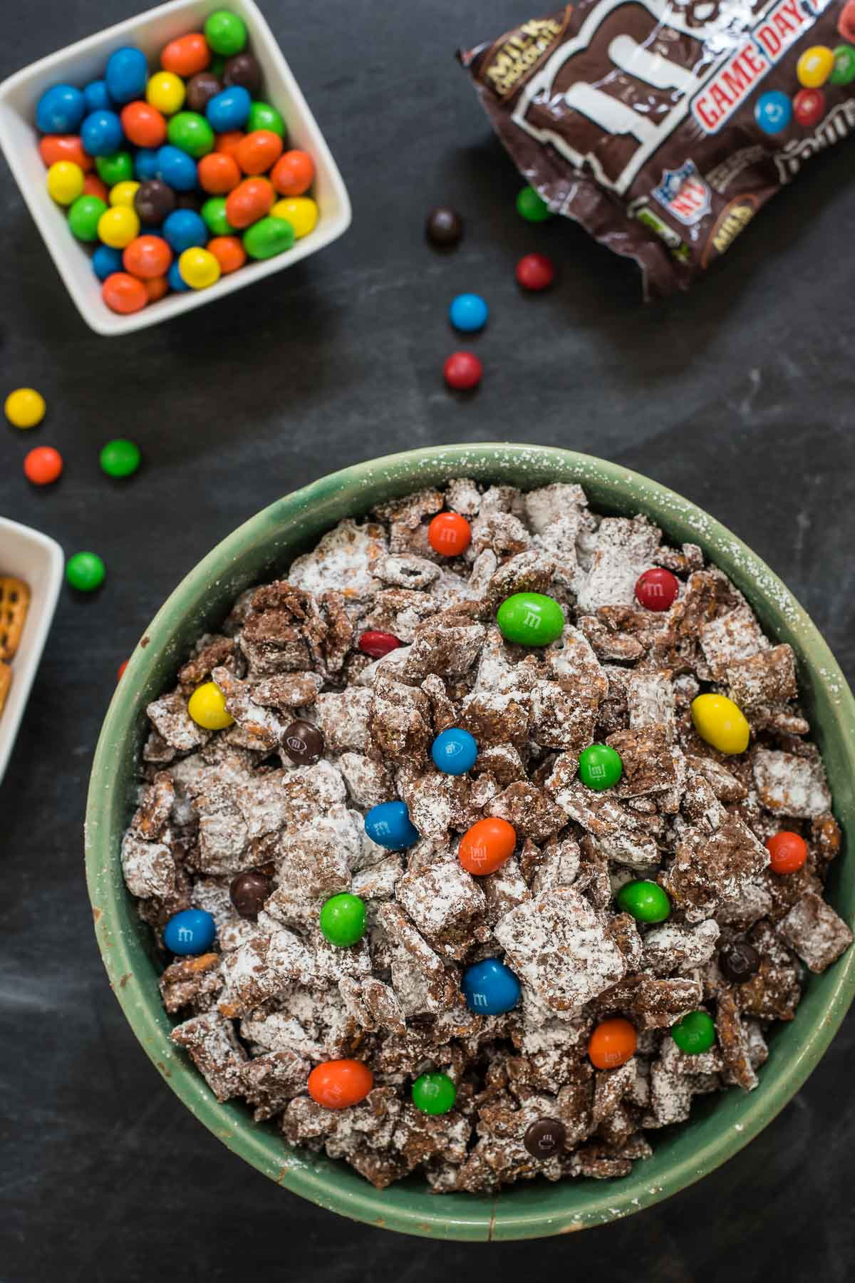 This Chocolate Peanut Butter Puppy Chow is an easy no bake appetizer that always disappears at parties!