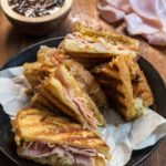 Gruyere Grilled Cheese with Ham and Fig Jam
