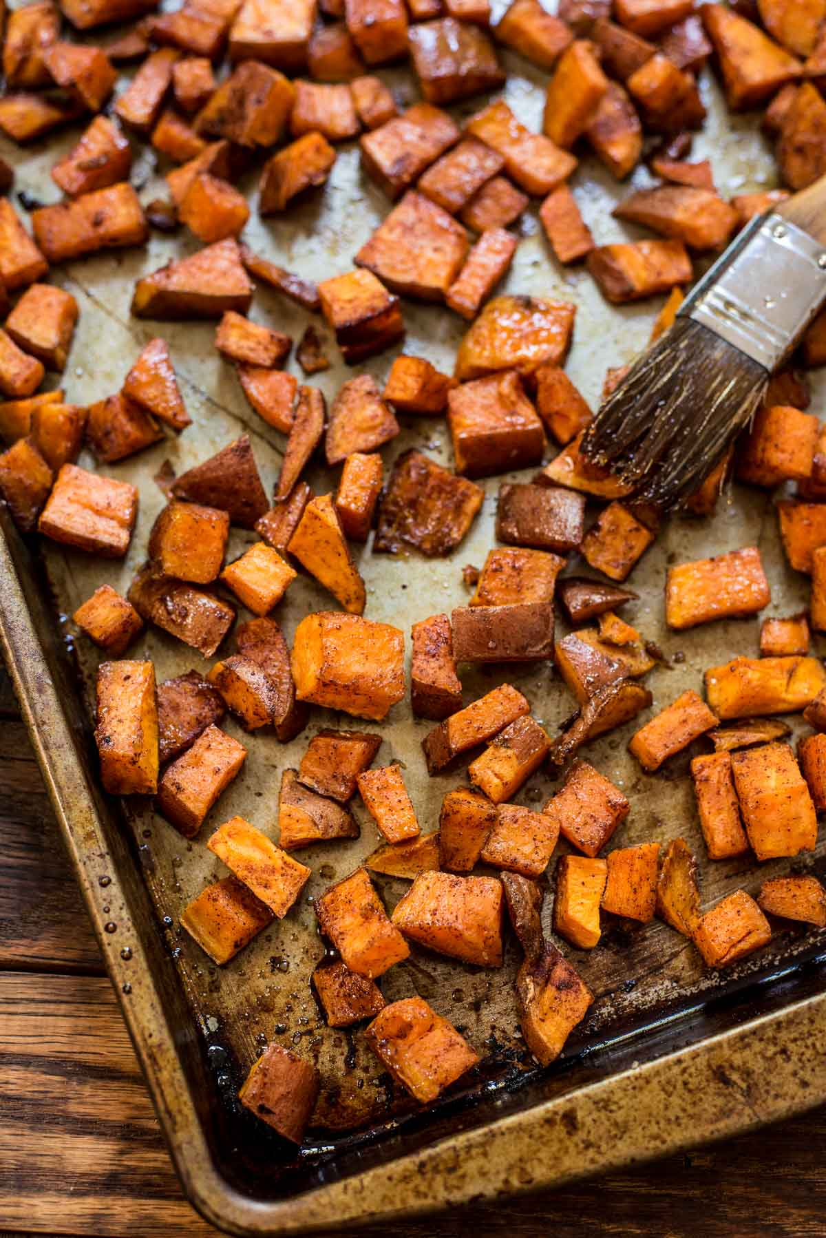 ... Maple Roasted Sweet Potatoes. They're incredibly delicious and simple