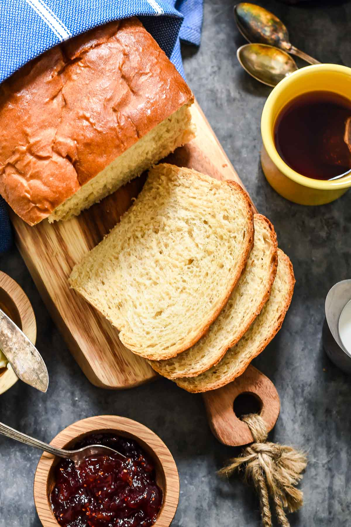 This Amish White Bread is one of the easiest homemade breads to make and it turns out a perfect fluffy loaf every time!