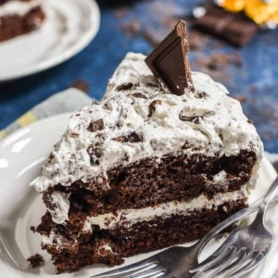 This Chocolate Candy Bar Cake is the perfect way to use up leftover Halloween candy. Use your favorite bars for the ultimate dessert!