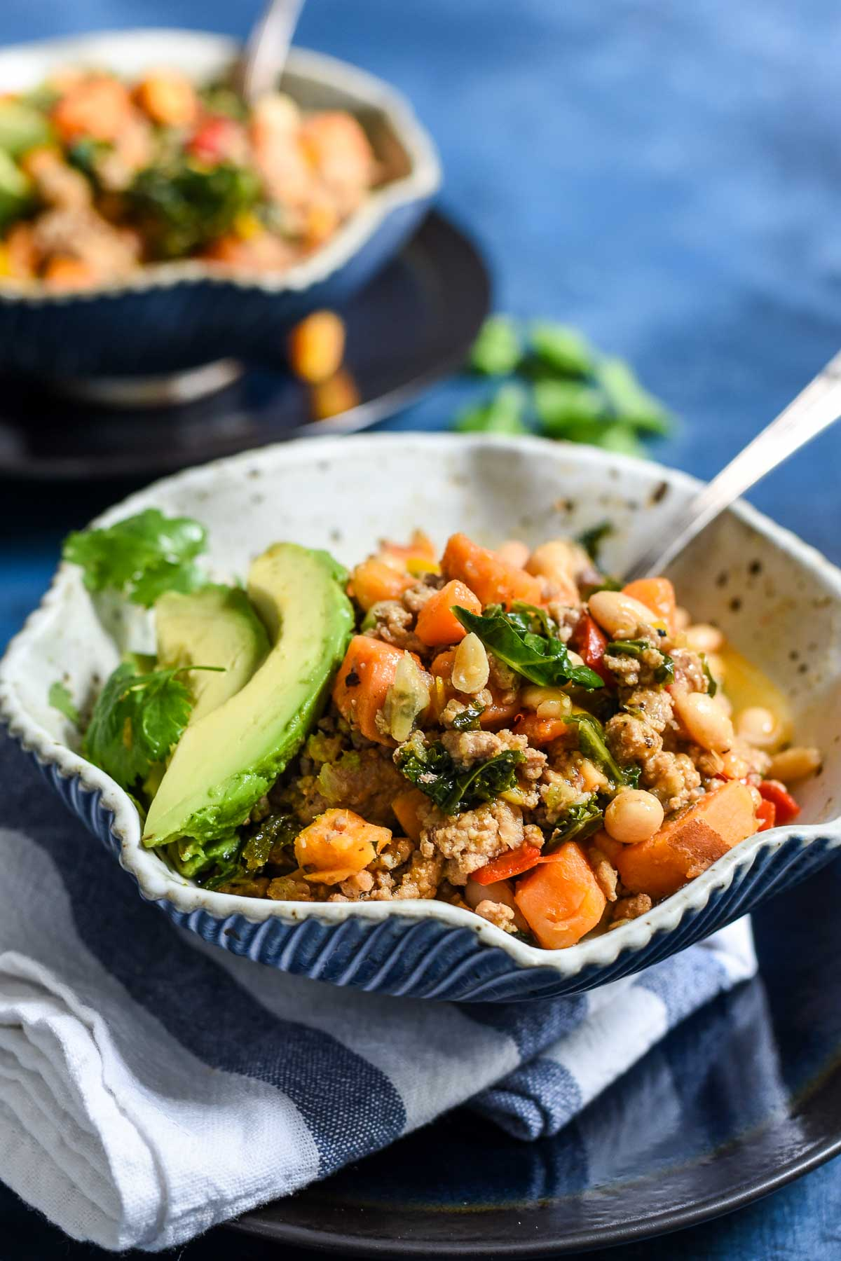 This smoky Chipotle Sweet Potato Turkey Chili is a healthy and hearty meal you'll want to eat all week. #glutenfree #dairyfree