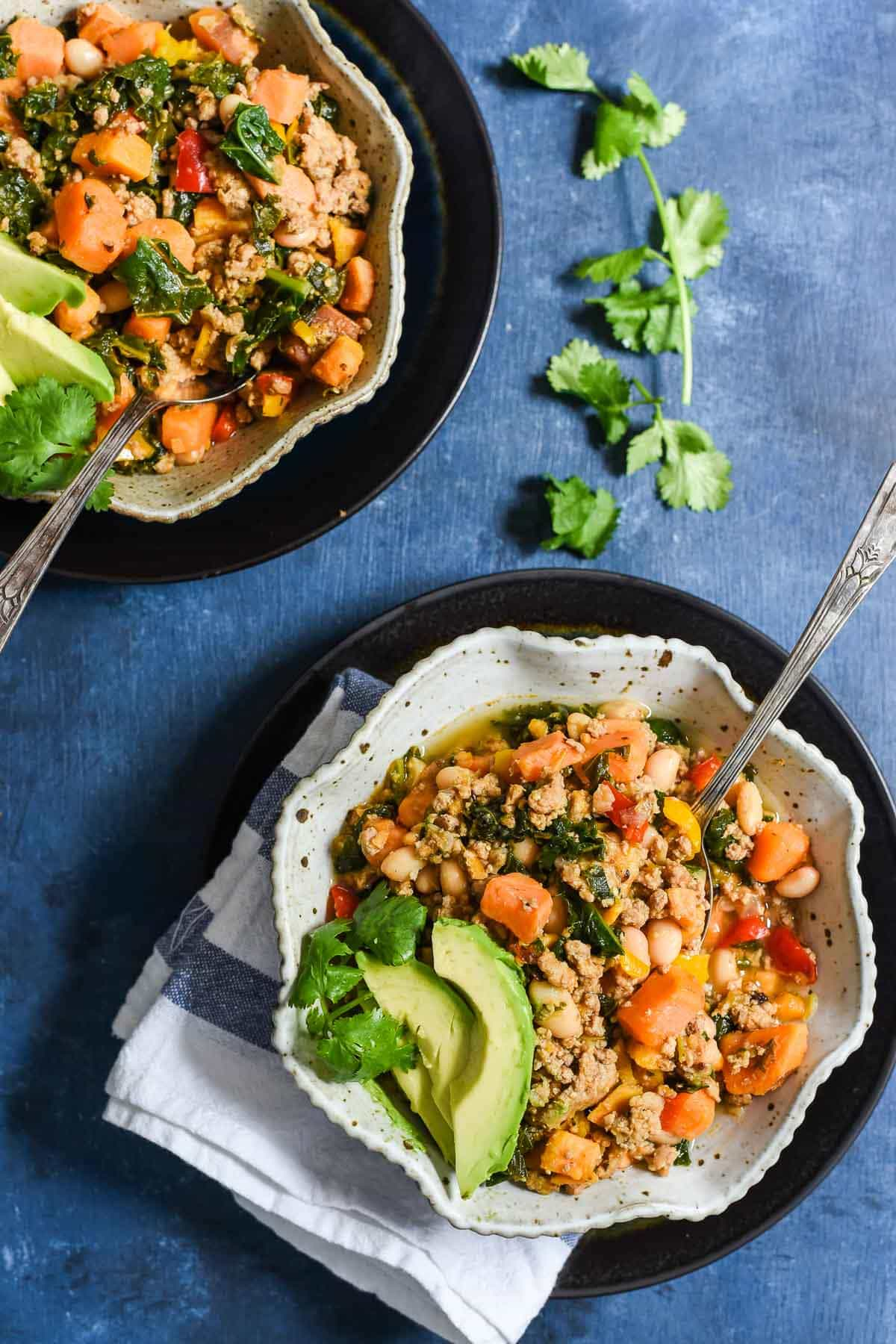 This Chipotle Sweet Potato Turkey Chili is a super hearty, healthy meal that's gluten free and dairy free!