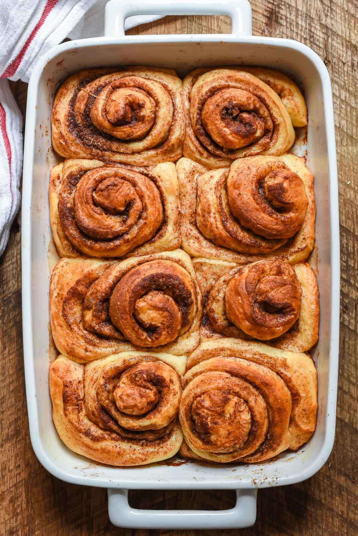 Save yourself from a stressful morning with these Overnight Cinnamon Rolls. They're soft, chewy, and pair perfectly with cream cheese frosting.