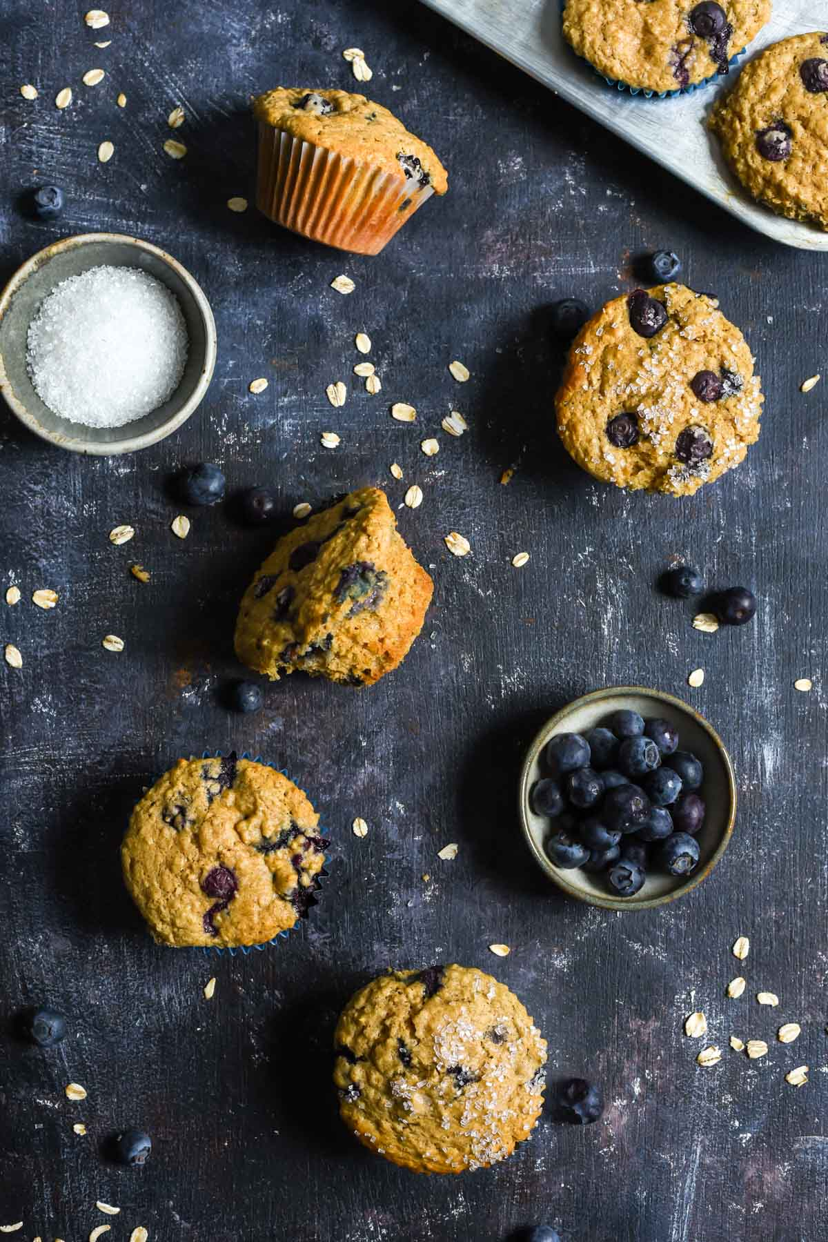 These hearty Blueberry Oatmeal Muffins are bursting with fresh blueberries. They're a wonderful way to start your day!