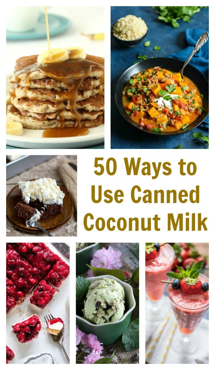 Got a few cans of coconut milk hanging out in the cupboard? From breakfast to dessert, you can find a recipe to use it up in this collection of 50 ways to use canned coconut milk!