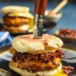 Breakfast Burger with Bourbon Bacon Jam