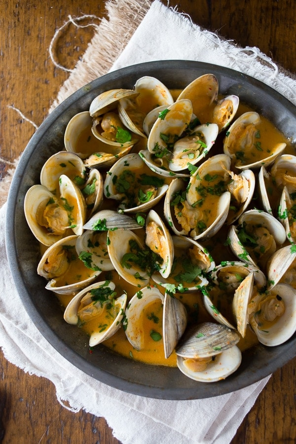 These Spicy Coconut Milk Clams are just one of 50 ways to use canned coconut milk in this roundup!