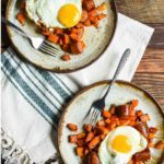 Maple Roasted Sweet Potato and Sausage Hash