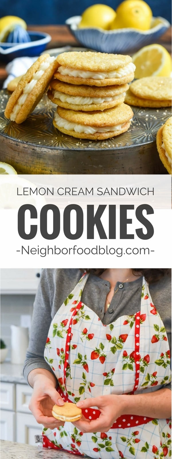 Lemon Sandwich Cookies filled with a dreamy lemon cream filling are the perfect spring dessert!