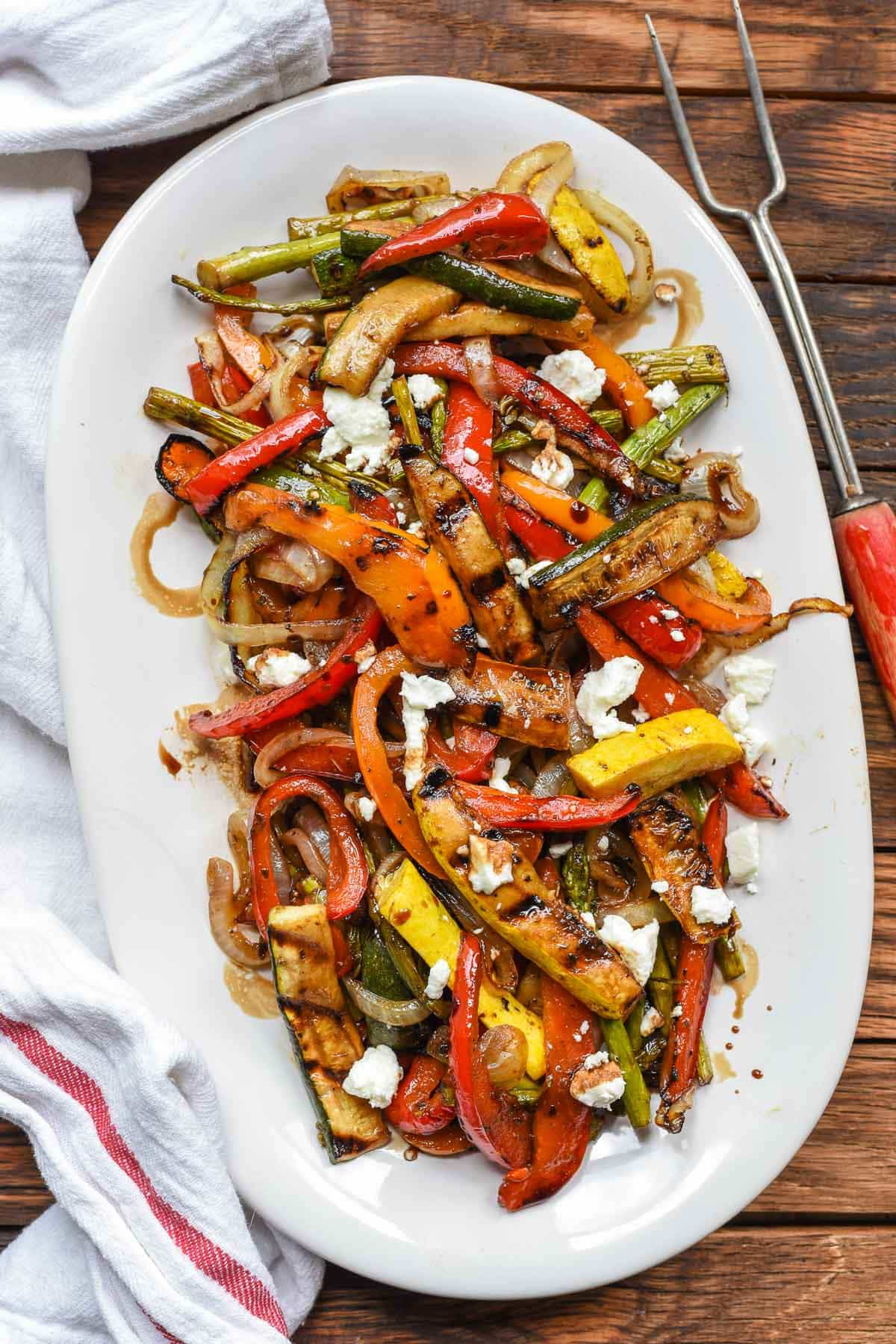 Easy Balsamic Grilled Vegetables are loaded with the best summer produce in a sweet, tangy marinade.