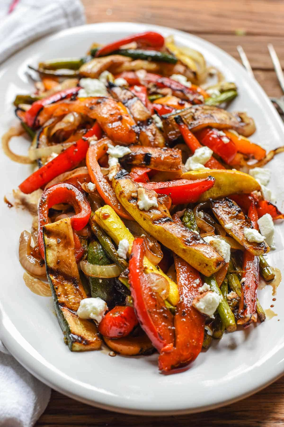 These Easy Balsamic Grilled Vegetables are a super flavorful, no mess side dish for summer!