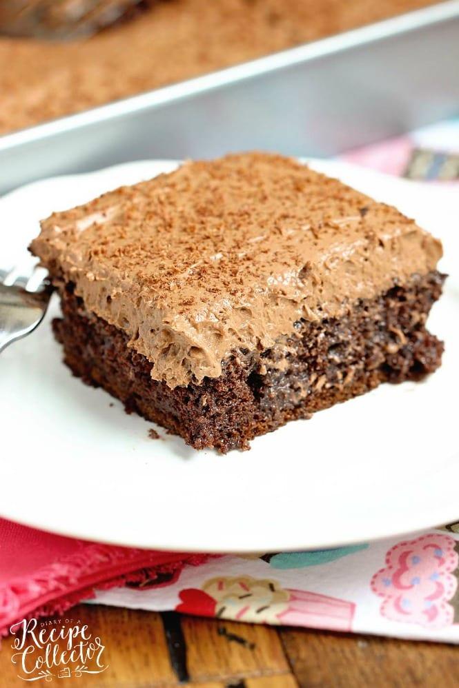 Double Mocha Poke Cake