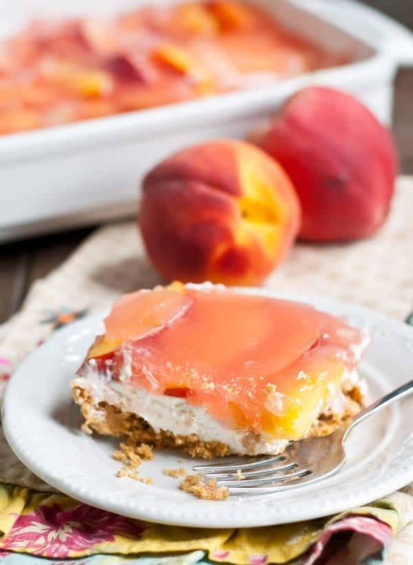 No Bake Peach Delight