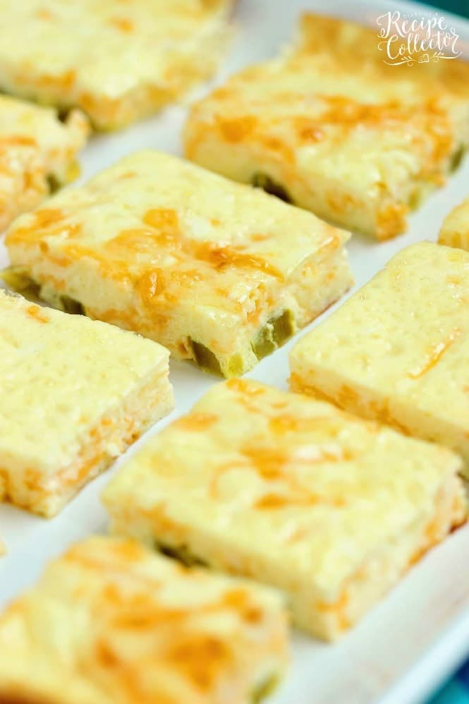 Cheesy Jalapeno Egg Squares