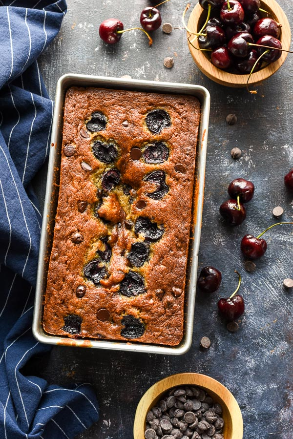 Take your classic banana bread up a notch with this Cherry Chocolate Chip Banana Bread.