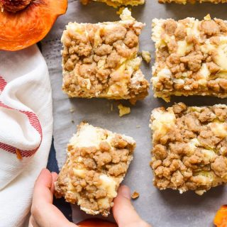 Peach Cobbler Cheesecake Bars