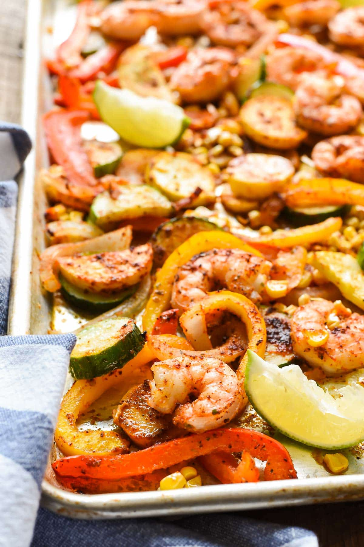 Summery Sheet Pan Shrimp Tacos is an easy 30 minute meal the whole family will love.