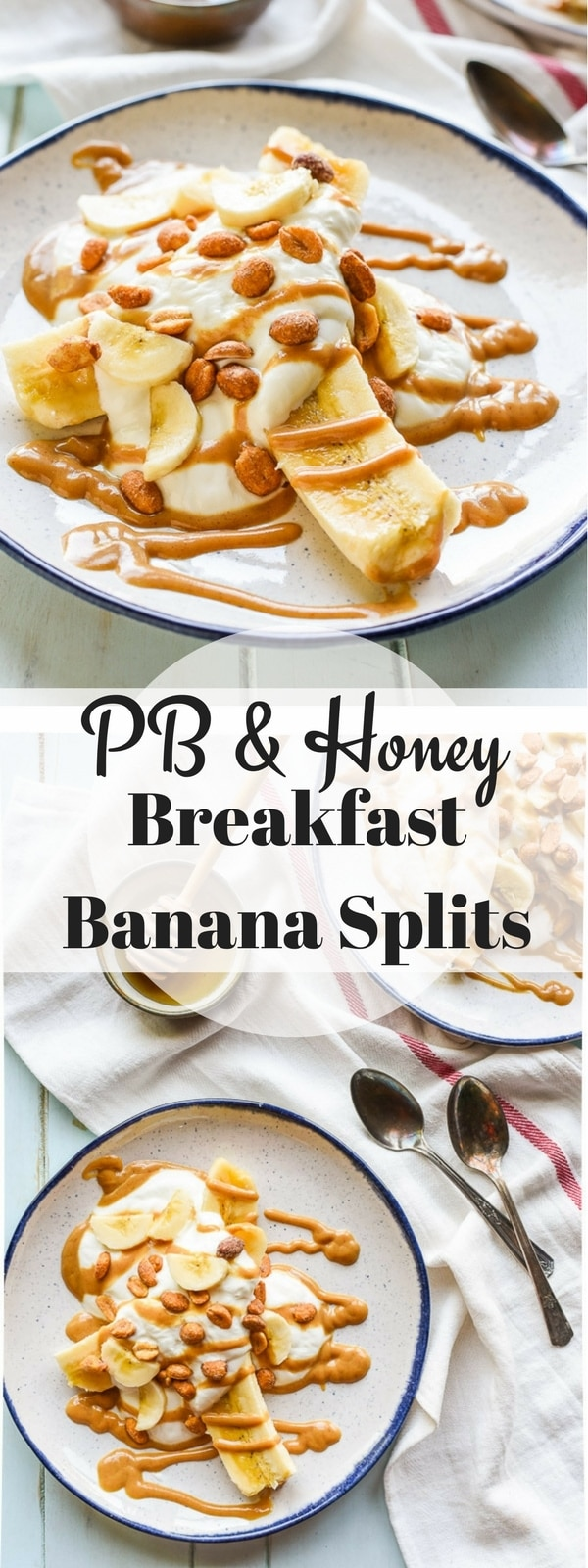 Peanut butter and honey combine to make these dreamy Breakfast Banana Splits, a fun breakfast or snack you can throw together in five minutes!