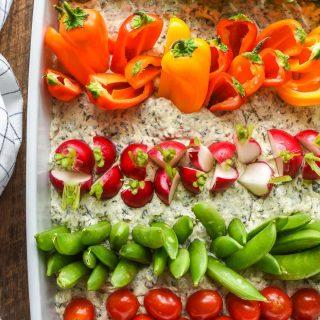 Garden Veggie Dip for a Farm Themed Birthday Party