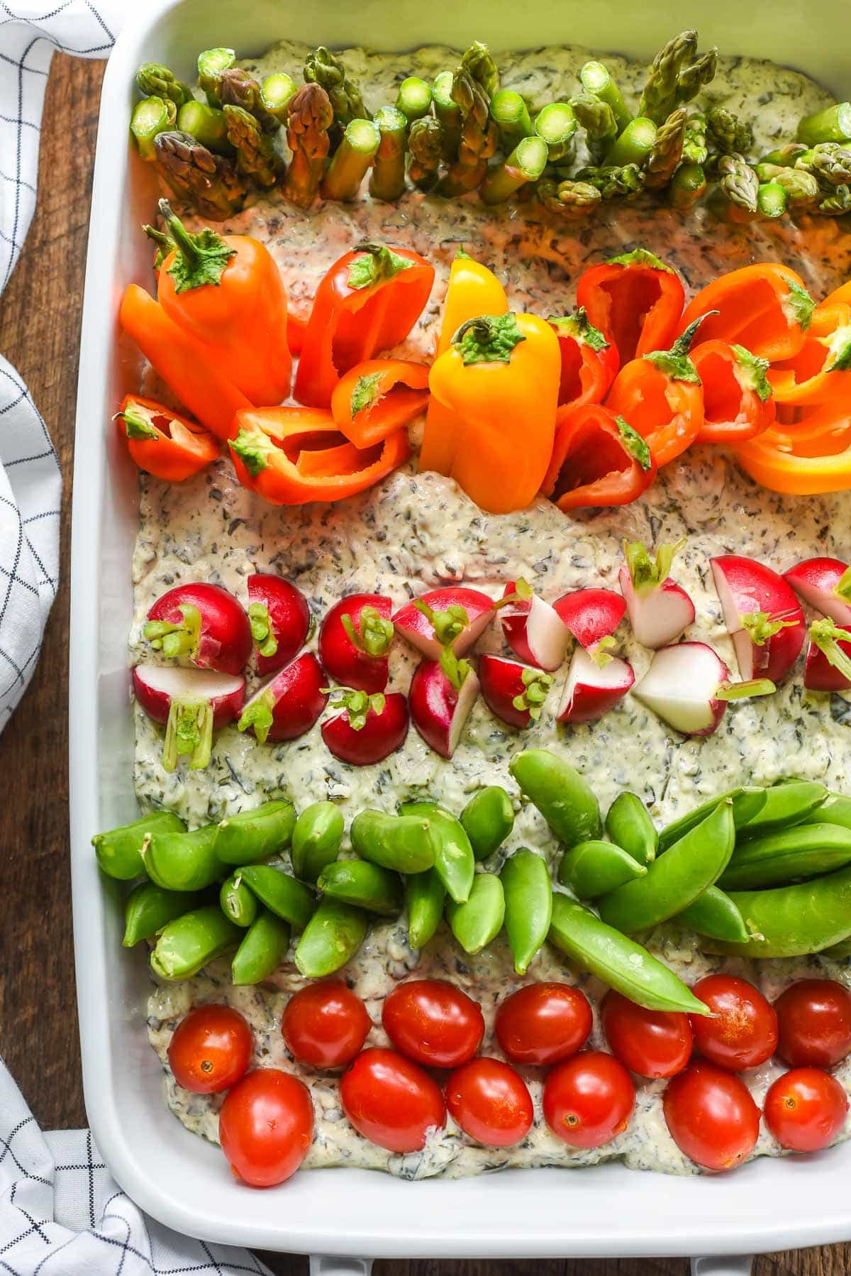 Garden Veggie Dip for a Farm Themed Birthday Party