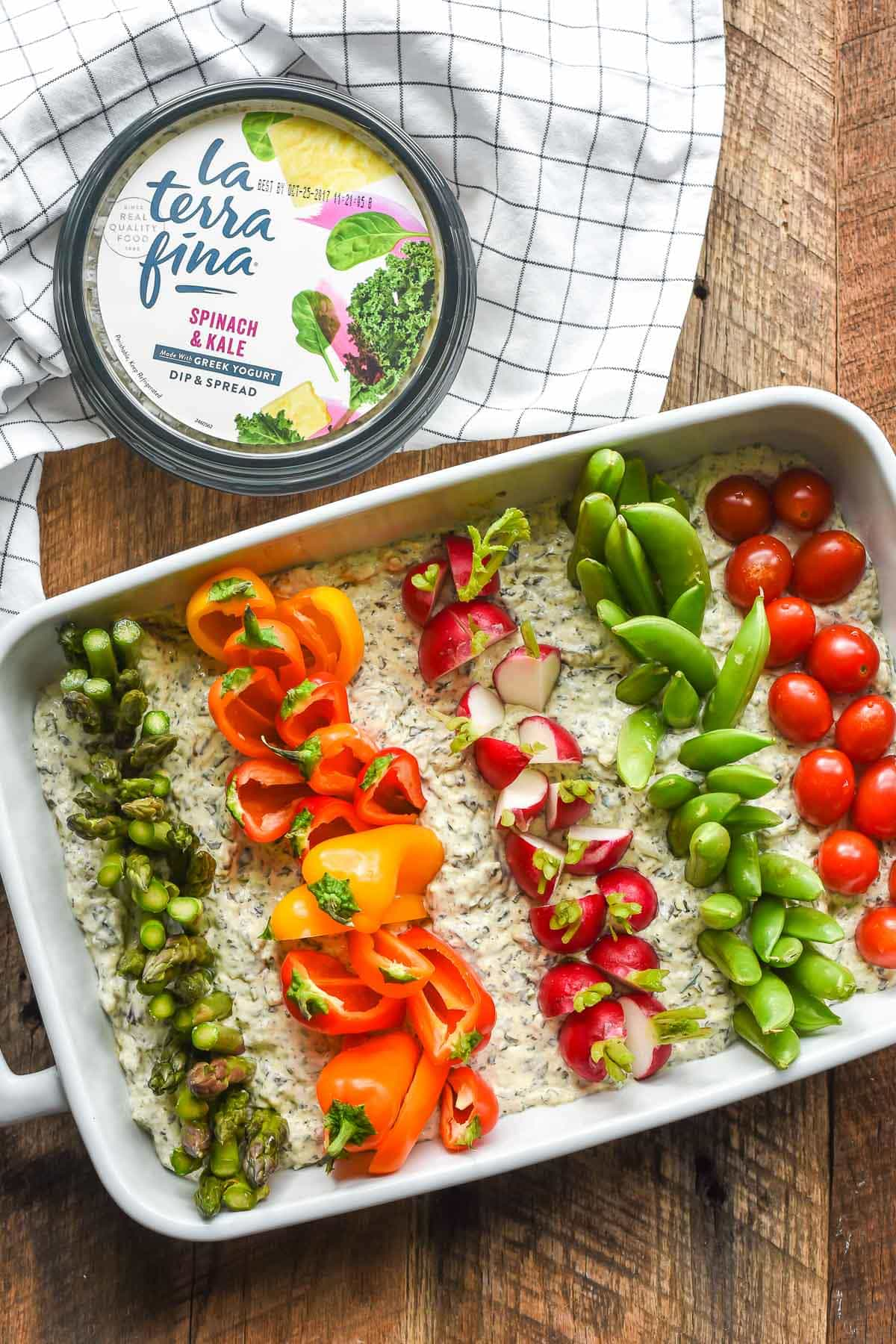 This Garden Veggie Dip is ridiculously easy to make and perfect for a farm themed birthday party!