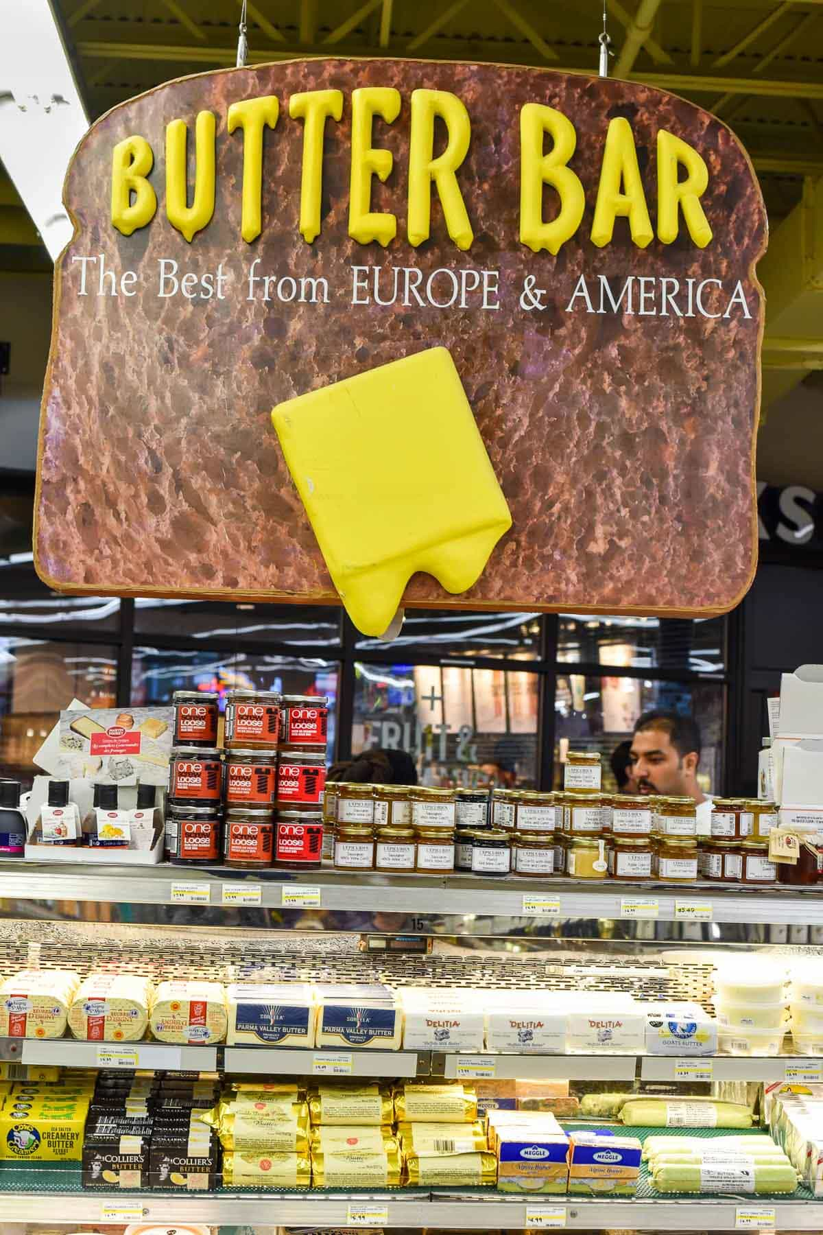 Visit Jungle Jim's International Market, which includes this epic butter bar!