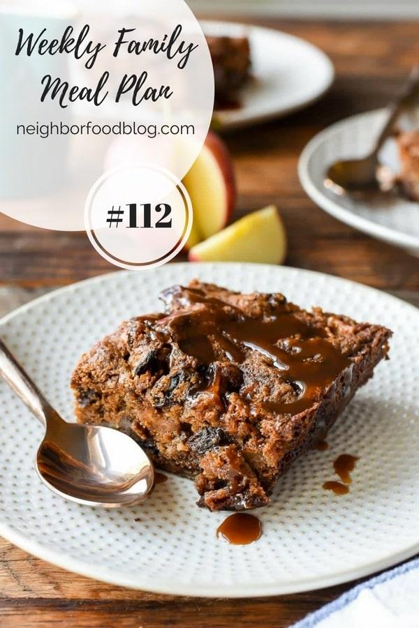 Weekly Family Meal Plan 112 | Neighborfoodblog.com